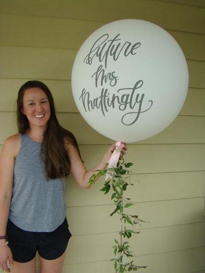 Bespoke Handlettered Balloon