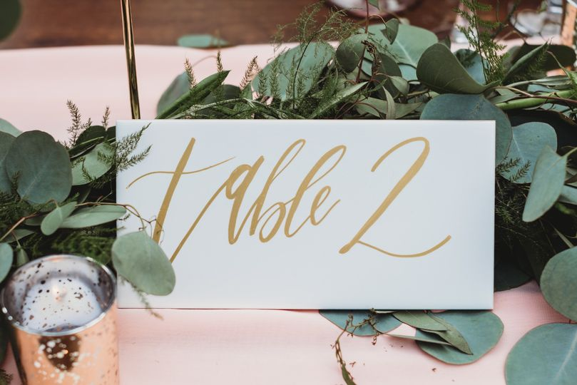 Table numbers - Cole E Photography