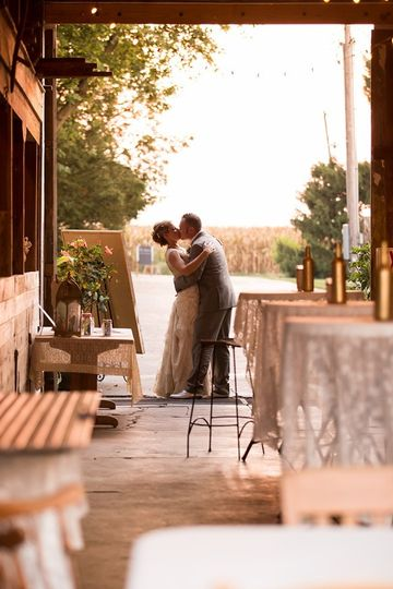 The barn can easily be set up for whatever option you like.  Cocktail hour, dinner, wedding, or...