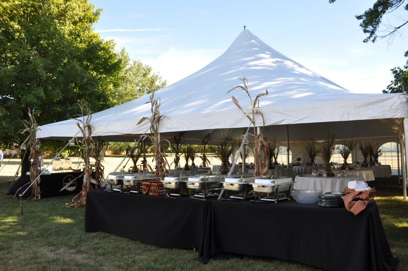 Add a tent for additional space and bring in the cater you feel will best fit your price point and...
