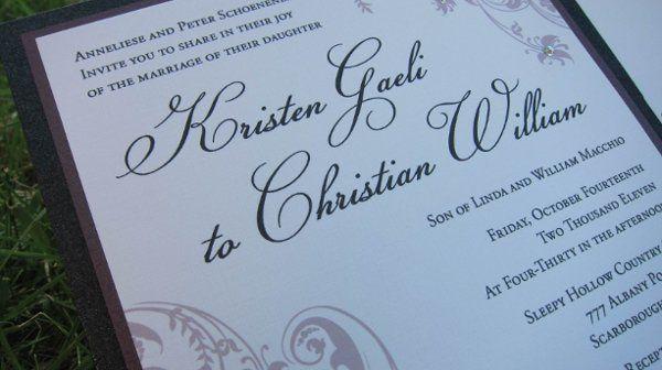 Tmx 1315328002324 KSwedding2 New Milford wedding invitation