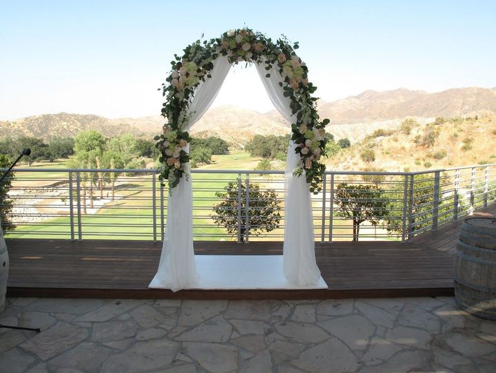Ceremony Patio overlooking the Golf Course