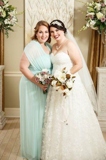 Bridesmaid & bride