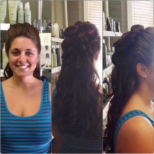 euphoria salon long hair wedding up d