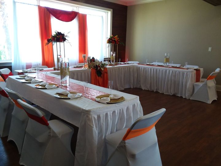 Main wedding party table