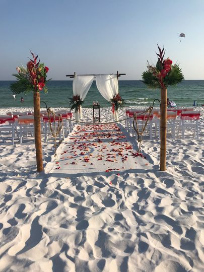 September Beach Wedding
