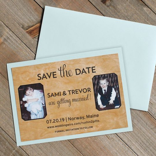 Birch Wood Save the Date