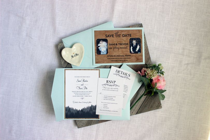 Wedding Suite with Wood Paper
