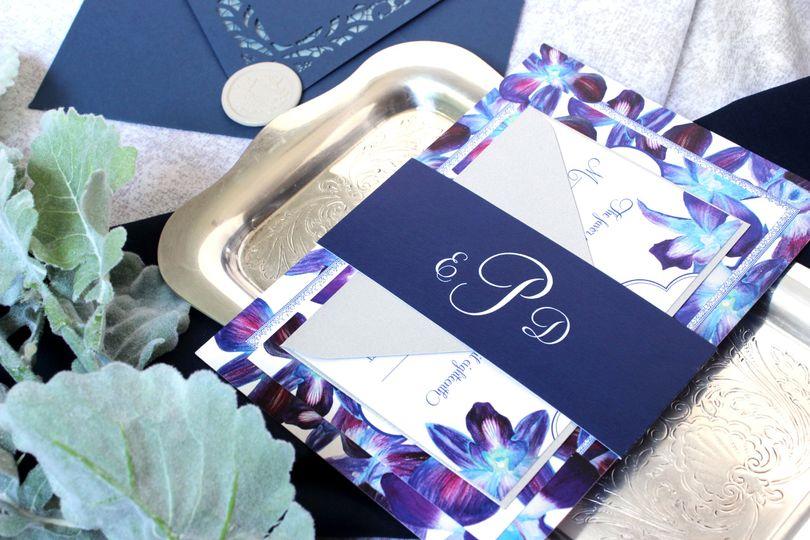 Custom Orchid Watercolor Suite