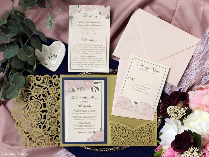 Tmx Theknot29 51 765033 157938708945783 Commack, NY wedding invitation