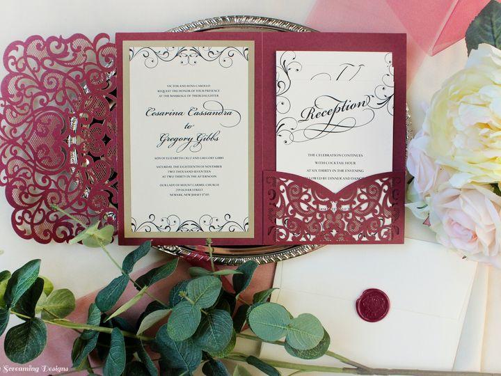 Tmx Theknot34 51 765033 157938709093974 Commack, NY wedding invitation
