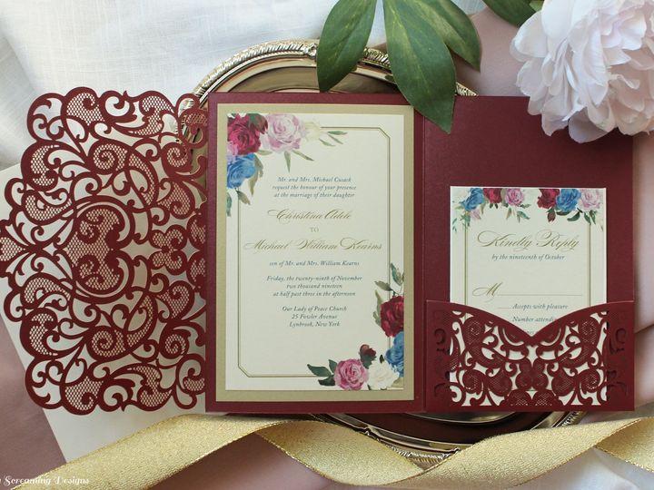 Tmx Theknot37 51 765033 157938709191401 Commack, NY wedding invitation