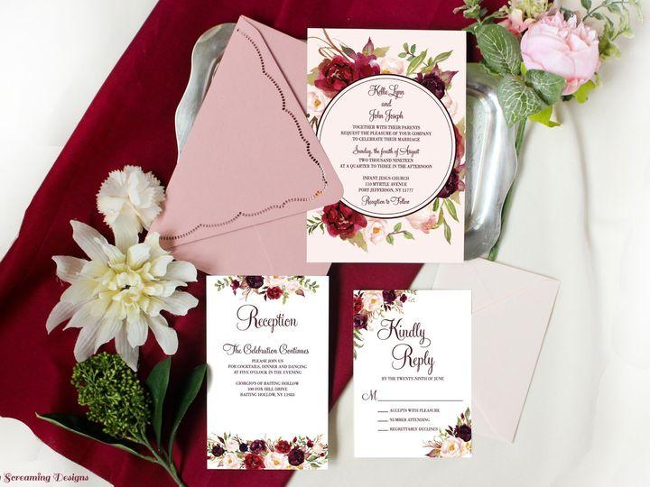 Tmx Theknot40 51 765033 157938709262338 Commack, NY wedding invitation