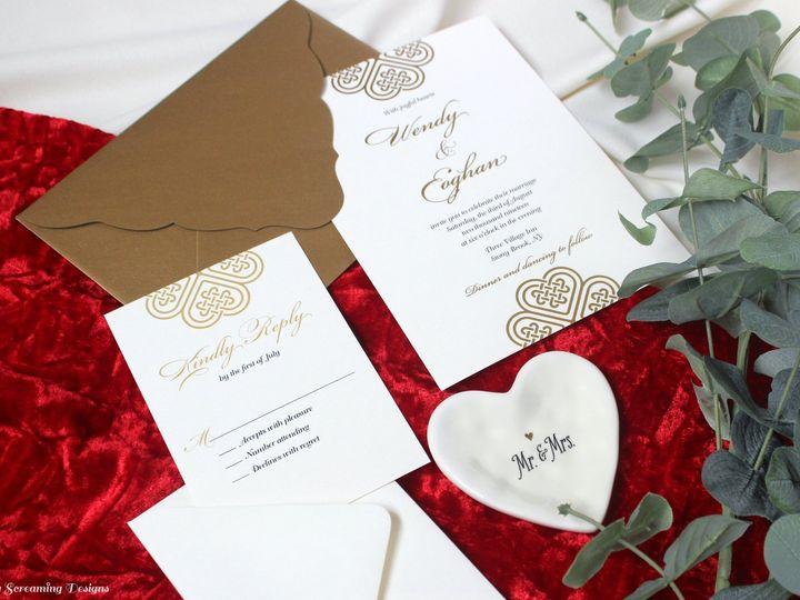 Tmx Theknot45 51 765033 157938709337534 Commack, NY wedding invitation