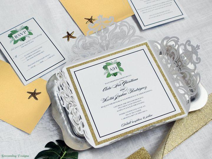 Tmx Theknot48 51 765033 157938709472844 Commack, NY wedding invitation