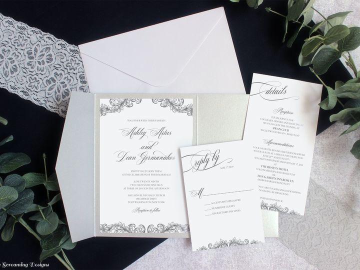 Tmx Theknot54 51 765033 157938709548684 Commack, NY wedding invitation