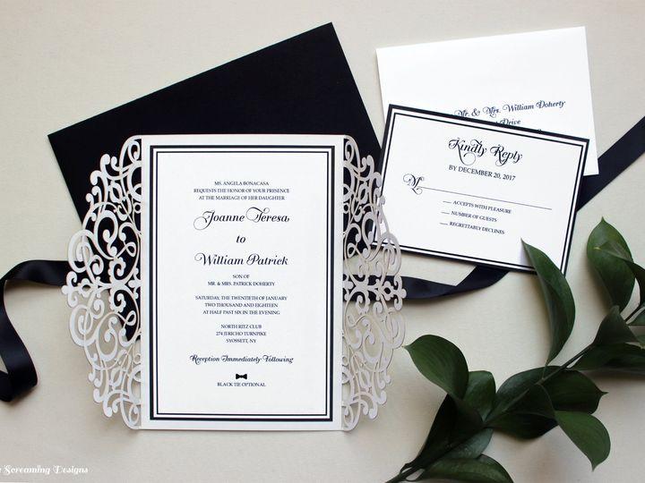 Tmx Theknot6 51 765033 157938708432285 Commack, NY wedding invitation