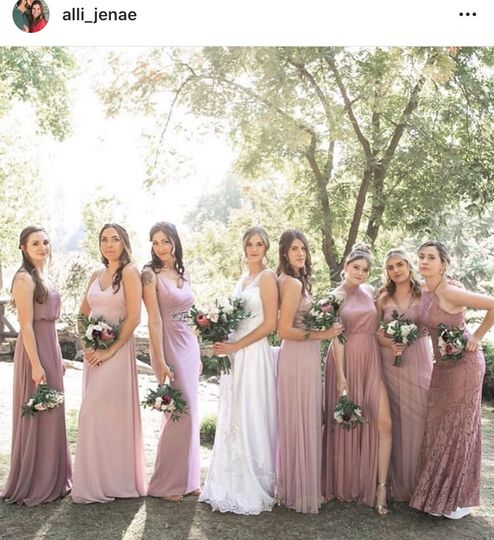 An awesome bridal party