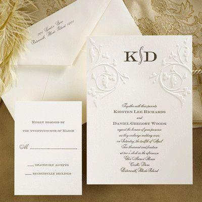 Tmx 1370274958060 Simply Embossed Carlson Craft Winston Salem wedding invitation