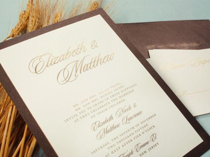 Tmx 1370275113039 Brownlayeredcard01 Winston Salem wedding invitation