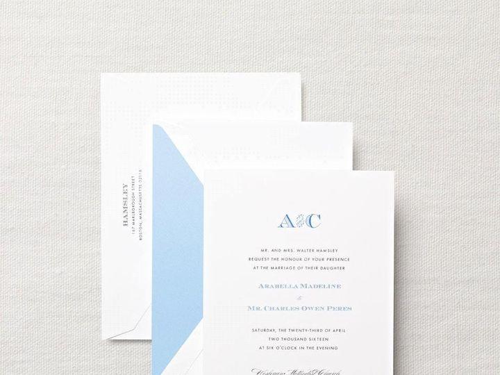 Tmx 1370275116038 Crane Monogram On Embassy Winston Salem wedding invitation