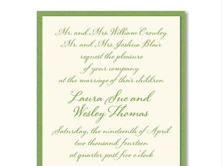 Tmx 1370275144319 Wa Green Layered Winston Salem wedding invitation