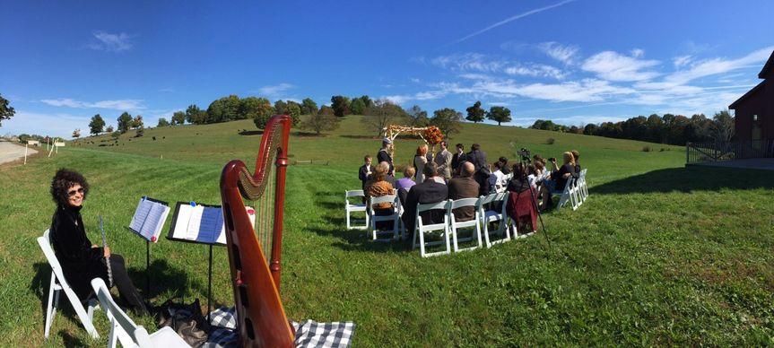 Beautiful ceremony panorama