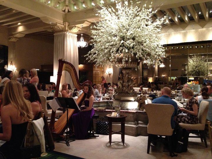 Elegant hotel reception
