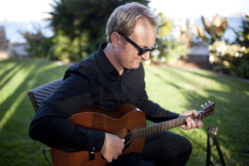 Matt playing the guitar