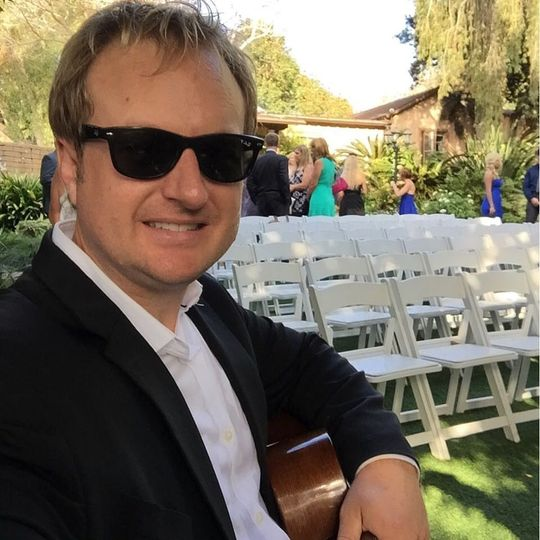 Matt playing for a wedding
