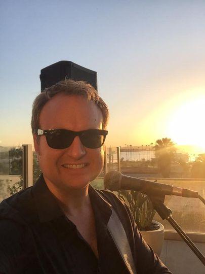 Matt and the sunset