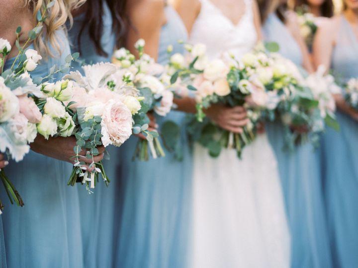 Sea Glass Bridesmaid Bouquets