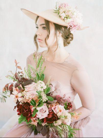 Mauve Bridal Bouquet