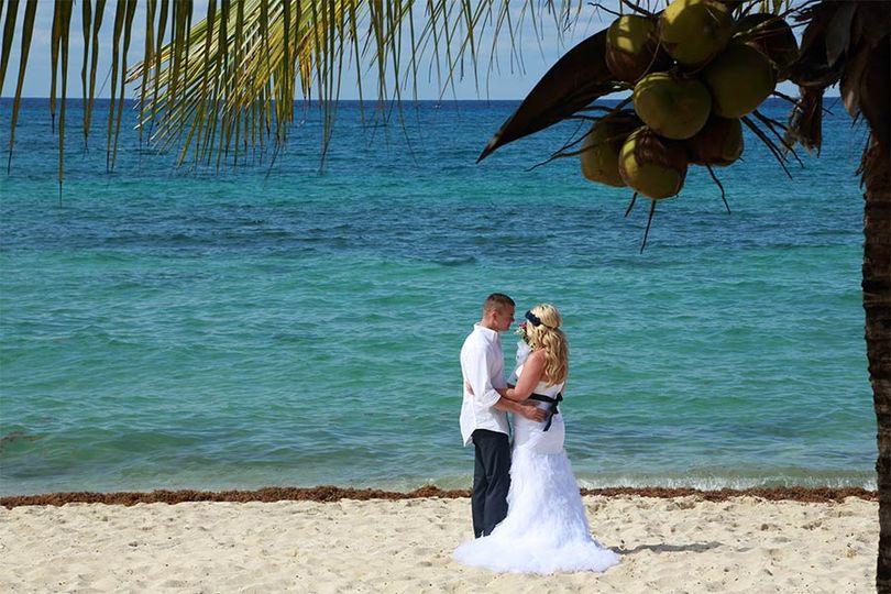 Couple beside the sea
