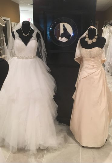 Shades of white bridal boutique dress attire conroe for Wedding dress shades of white