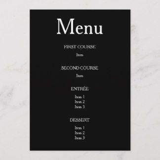 Personalize menu