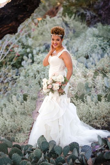 A beautiful Arizona bride