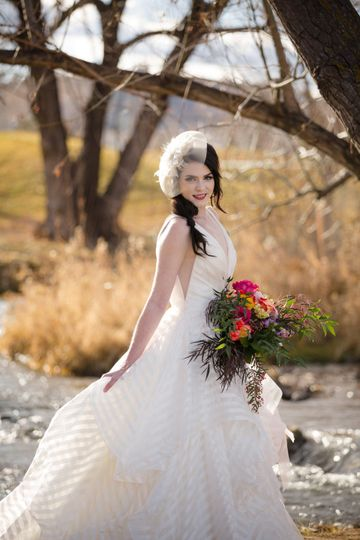 A stunning bridal portrait