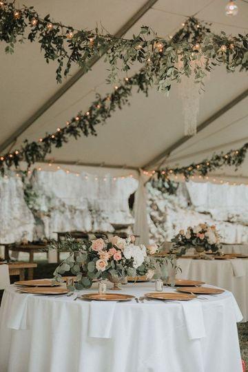 Boho garden tented wedding
