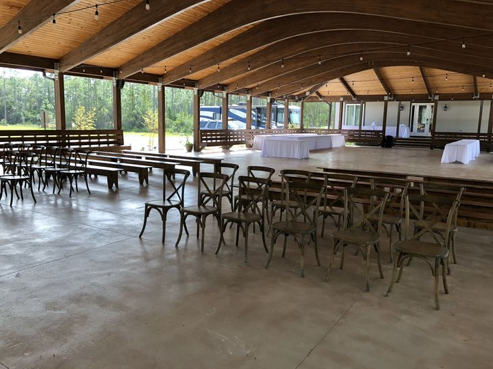 Pavilion Set for Ceremony and d