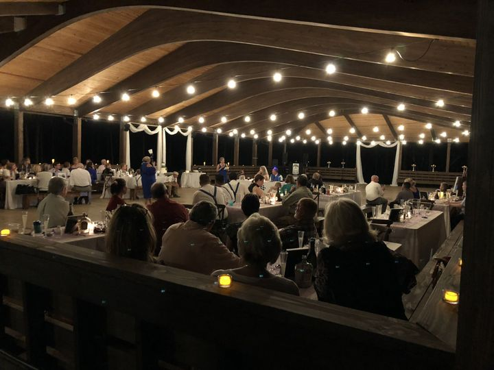 Pavilion set for wedding