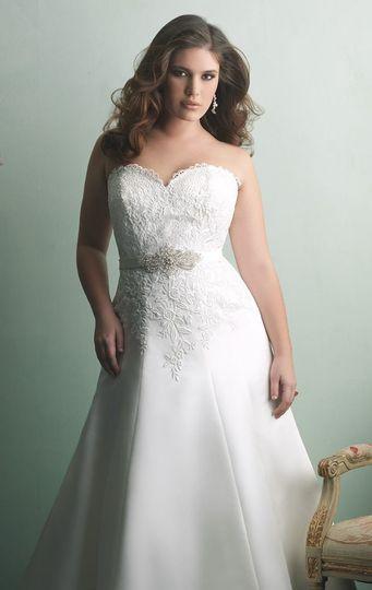 Sweetheart top A-line dress