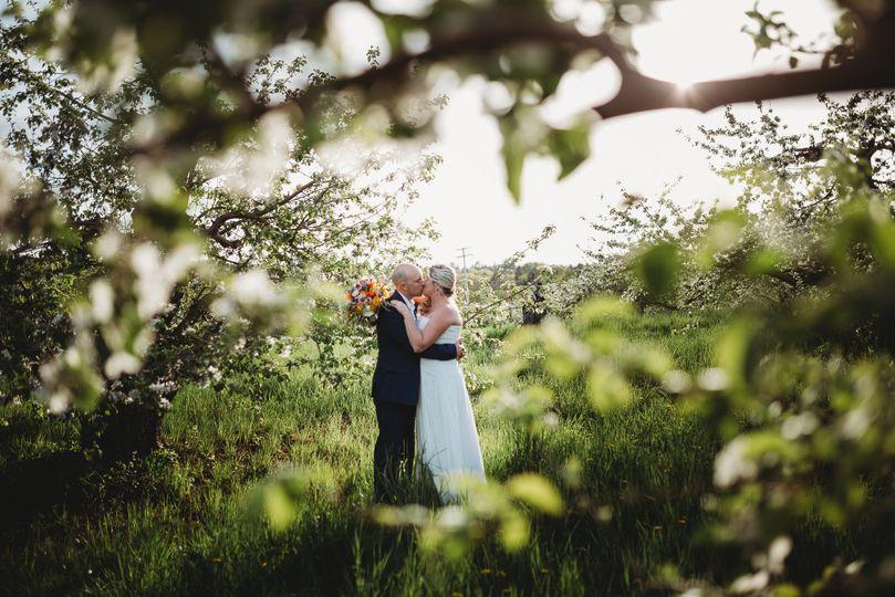 Spring orchard wedding