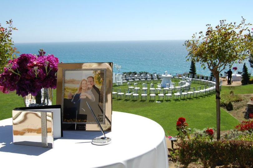 guest book and background