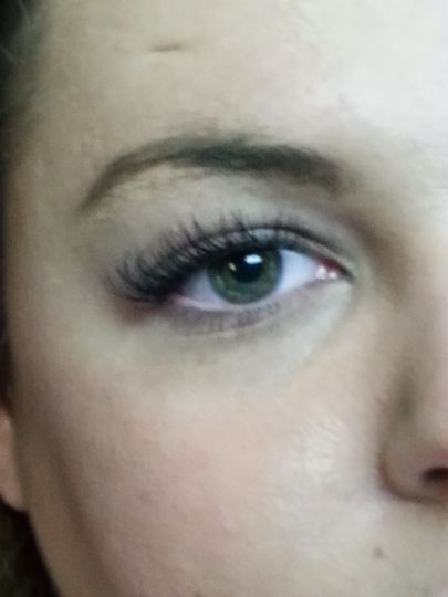 Birthday After.  An elegant look.  Not overdone, but just right.  She chose lashes with a medium...