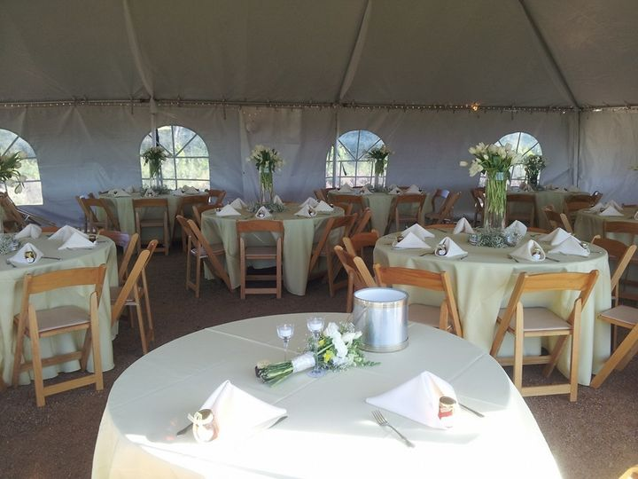 Beautiful wedding at Story Winery using our rentals!