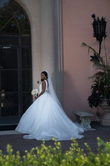 Bride by the entrance
