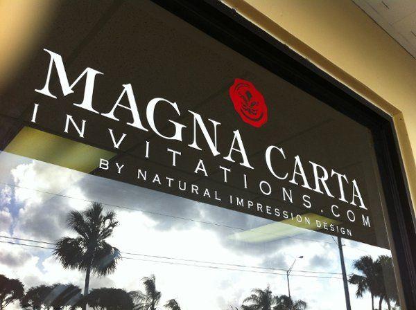 Magna Carta Invitations by Natural Impression Design