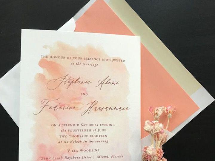 Tmx Watercolor Wedding Invitation Miami 1 51 492133 157383130633869 Miami, FL wedding invitation