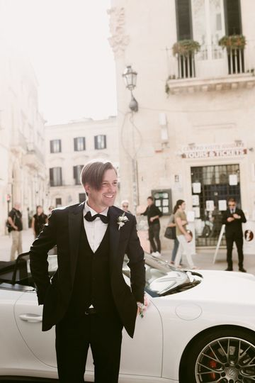 Wedding in Lecce. Here comes ehe groom!